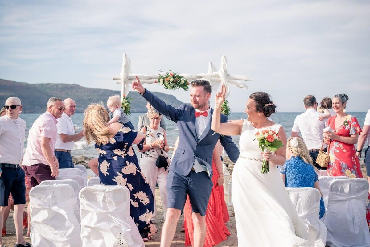 Celebrate after Crete beach wedding